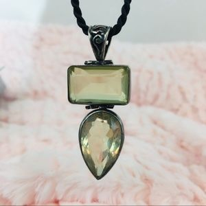 Soft Yellow Topaz Stone Pendent set in Sterling